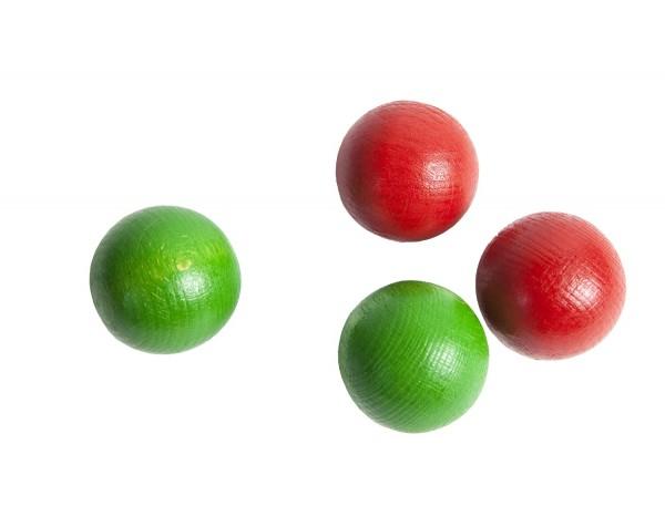 4-er SET Kugeln (grün und rot)