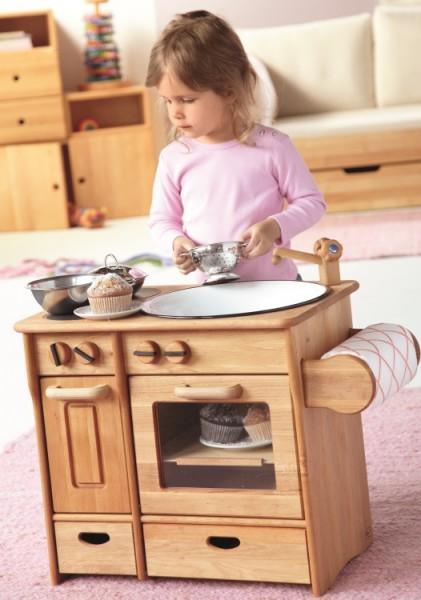 Kombi-Kinderküche aus Erlenholz