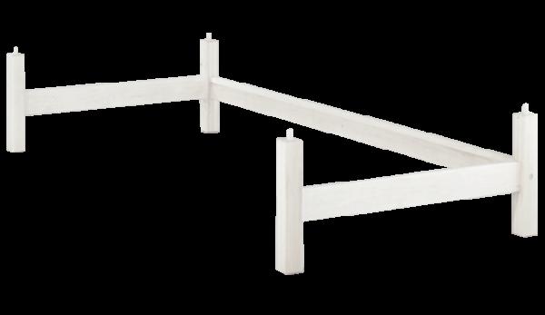 Treppenleiter 120 cm, weiß