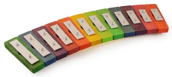Pentatonisches Glockenspiel Regenbogen, 12 Töne