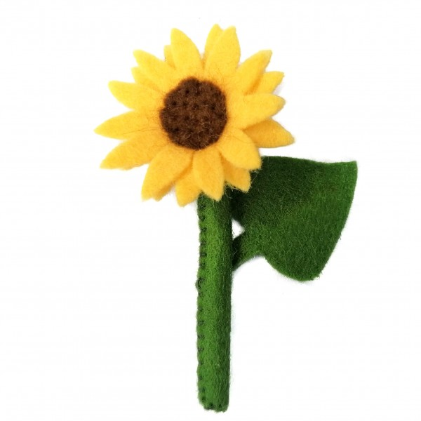 Sonnenblume aus Filz