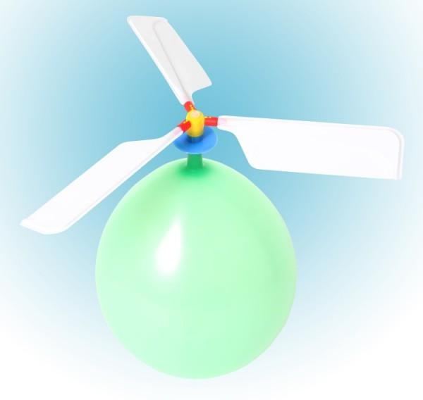 Ballon-Helikopter, 4-er Set
