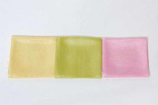 Jahreszeitentücher aus Seide, 3er-SET in verschiedenen Farben