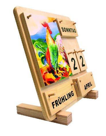 Standwinkel für den Holz-Kalender