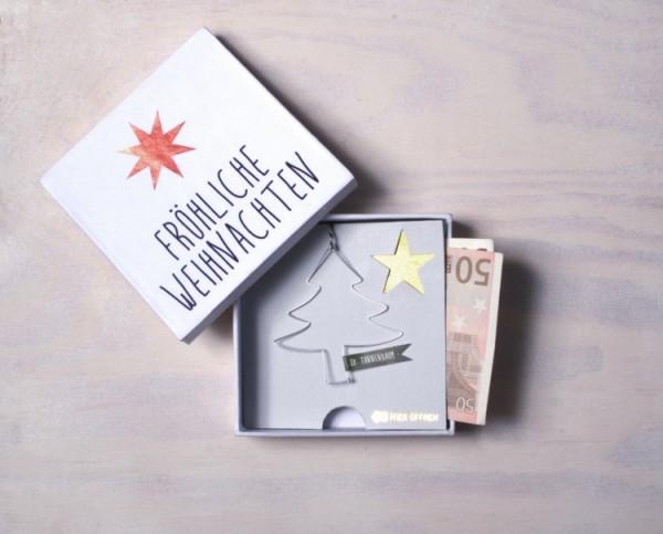 Geldgeschenkbox Fröhliche Weihnachten