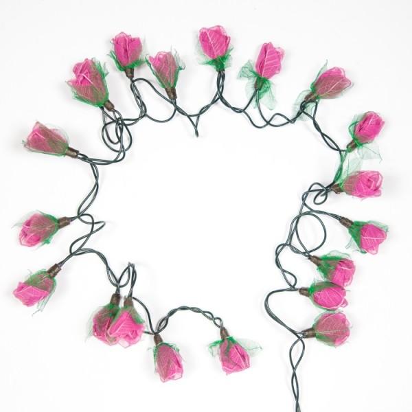 Lichterkette Rosenblüten