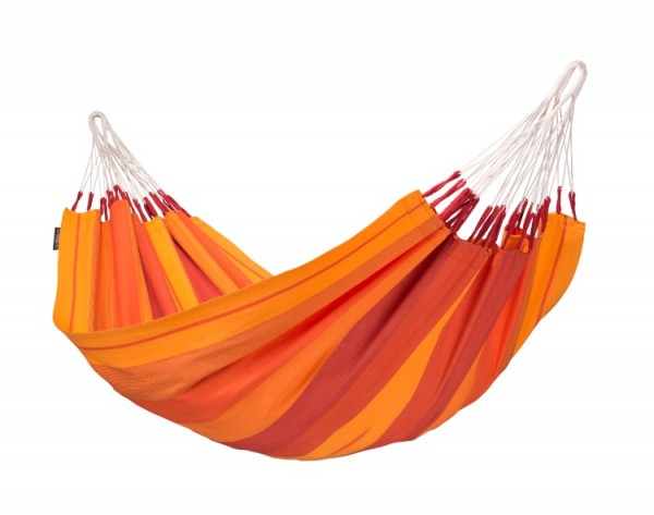 Einzelhängematte aus Baumwolle, orange