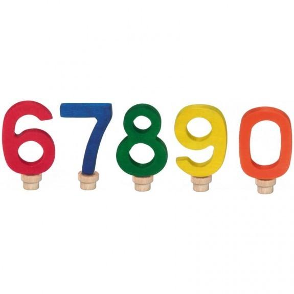 Geburtstags-Zahlen 6-0, bunt