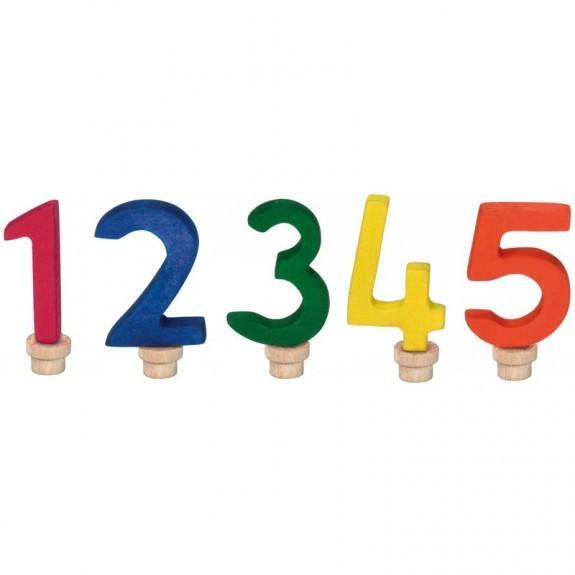 Geburtstags-Zahlen 1-5, bunt