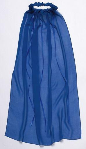 Seiden-Schleier, blau