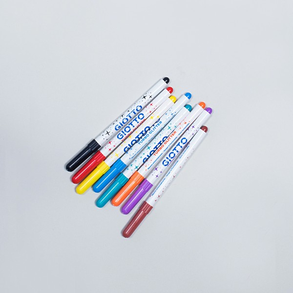 Glitzer-Filzstifte, 8 Farben