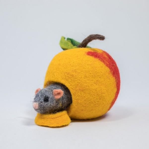 Apfelhäuschen mit Maus