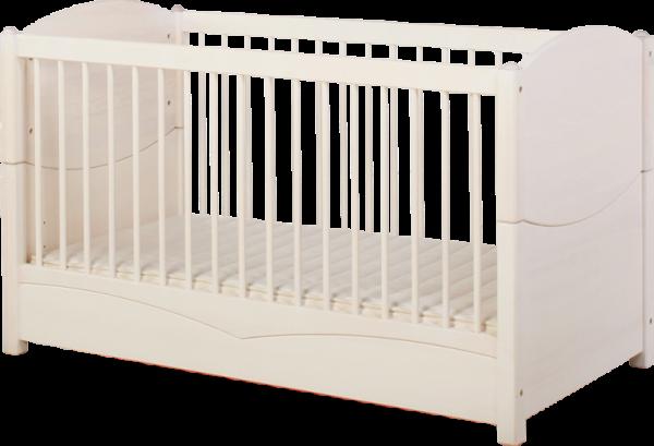 Silas Naturweiß Baby- und Kinderbett
