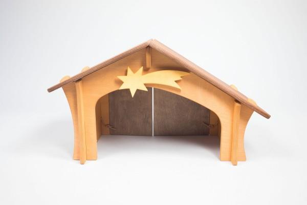 Stall mit Stern und Vogelbrett