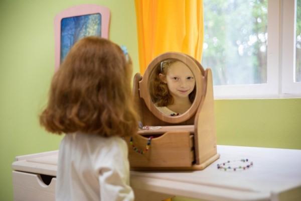 Spiegelkommode Erle