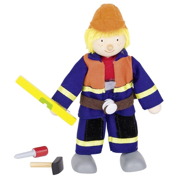 Biegepuppe Bauarbeiter