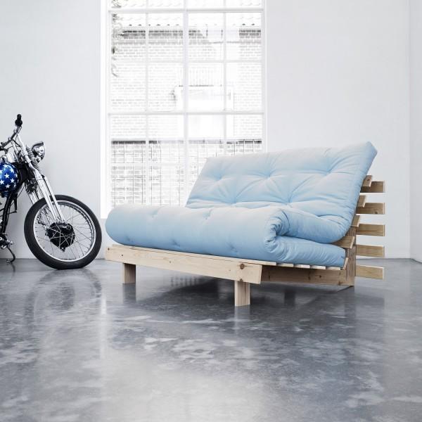 Schlaf-Sofa, blau