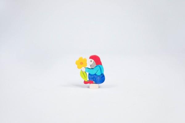 Stecker Zwerg mit Blume