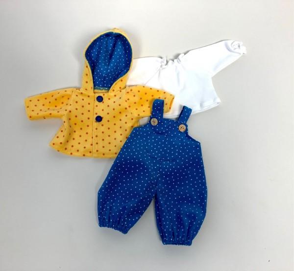 Bekleidungs-SET für Babypuppe nach Waldorfart, blau