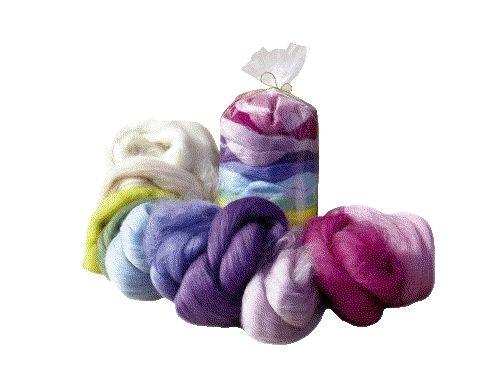 Filzwolle aus Kammzug, Märchenwolle in Pastelfarben