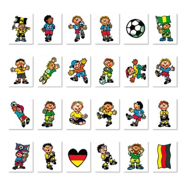 Mini-Tattoo-Set Fußball, 24-tlg.