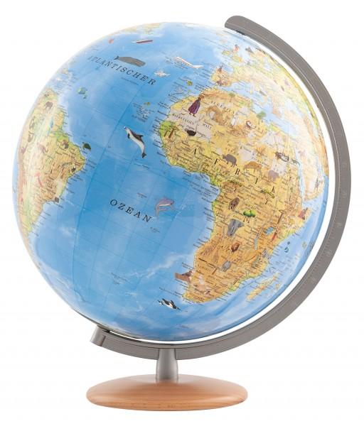 Kinderglobus Columbus unsere Erde mit Entdeckerstift