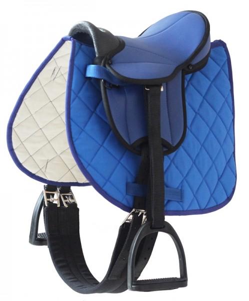 Sattel für Gartenpferd Susi, blau