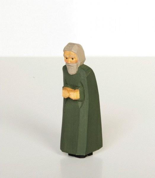 Hirte mit grünem Mantel