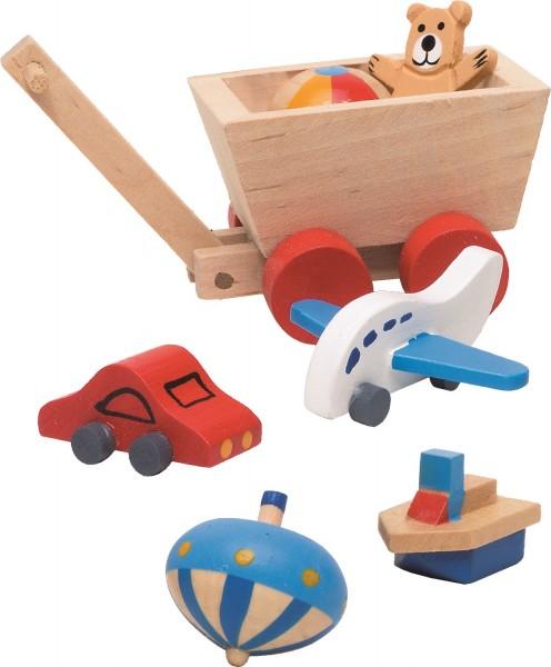 Spielzeug Puppenhaus, 7-tlg.