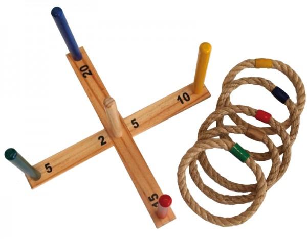 Schildkröt Ringwurfspiel aus Holz