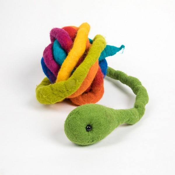 Regenbogenschlange aus Filz