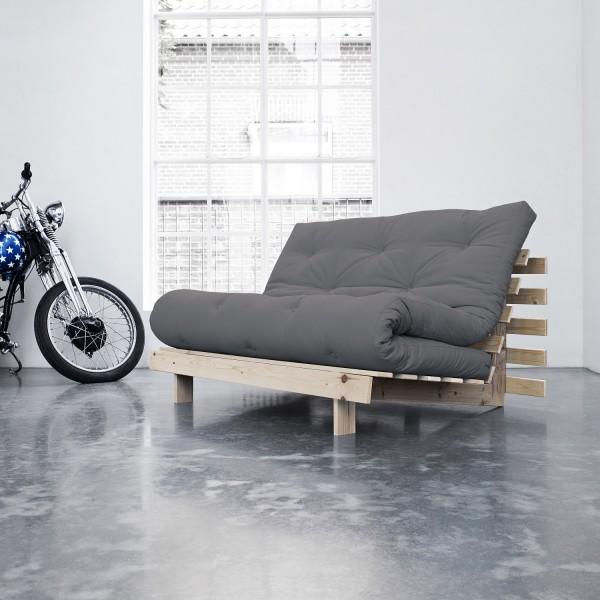 Schlaf-Sofa, grau